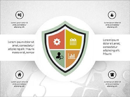 Centered Slide Deck, Slide 8, 03984, Icons — PoweredTemplate.com