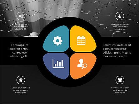Centered Slide Deck, Slide 9, 03984, Icons — PoweredTemplate.com