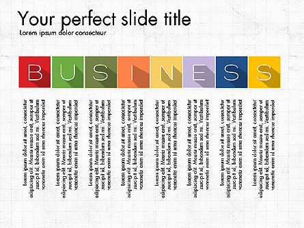 Creative Titles Presentation Concept, 03988, Presentation Templates — PoweredTemplate.com