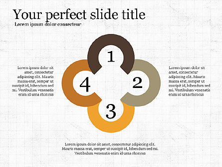 Project Presentation Concept with Flat Shapes, Slide 2, 03990, Presentation Templates — PoweredTemplate.com