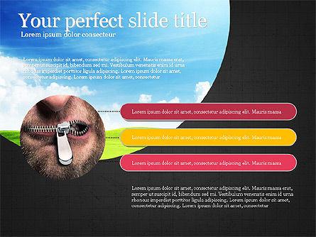 Startup Process Presentation Concept, Slide 13, 03991, Presentation Templates — PoweredTemplate.com