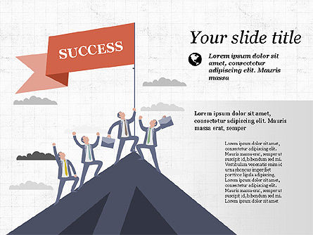Moving to Success Presentation Template, 03997, Presentation Templates — PoweredTemplate.com