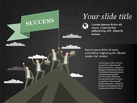 Moving to Success Presentation Template Slide 9