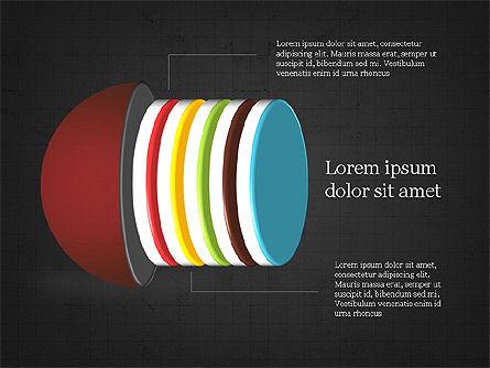 Layered Objects Slide Deck, Slide 16, 03998, Shapes — PoweredTemplate.com
