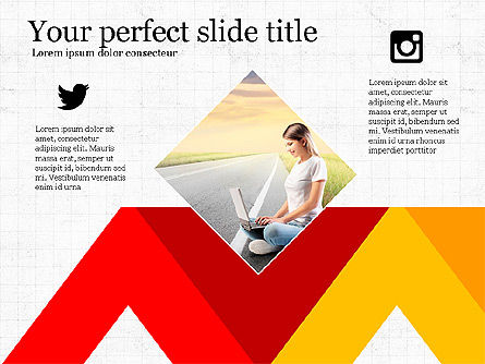 Social Media Presentation Concept, 03999, Presentation Templates — PoweredTemplate.com