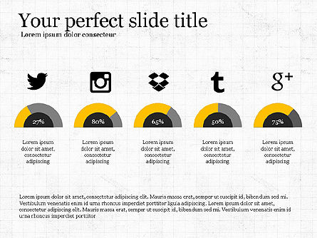 Social Media Presentation Concept, Slide 2, 03999, Presentation Templates — PoweredTemplate.com