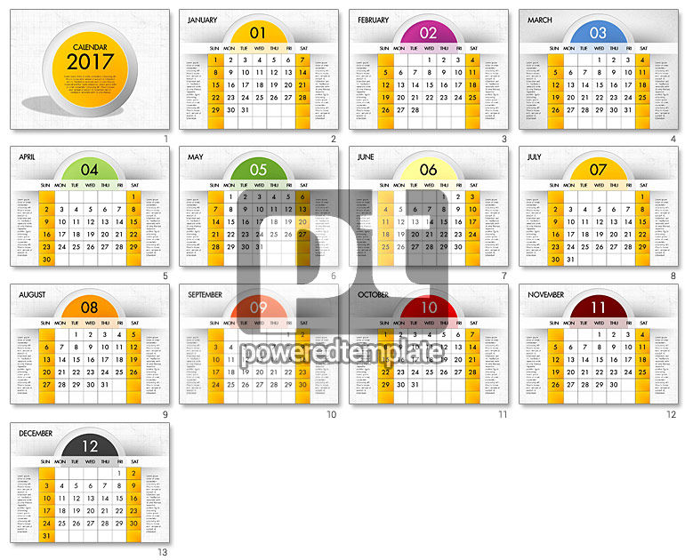 2017 Calendar for PowerPoint