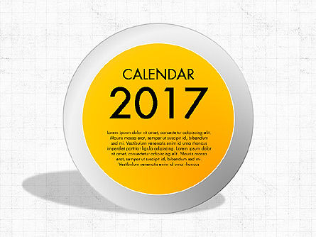 2017 Calendar for PowerPoint, 04000, Timelines & Calendars — PoweredTemplate.com