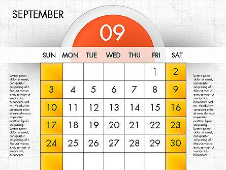 2017 Calendar for PowerPoint, Slide 10, 04000, Timelines & Calendars — PoweredTemplate.com