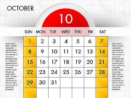 2017 Calendar for PowerPoint, Slide 11, 04000, Timelines & Calendars — PoweredTemplate.com