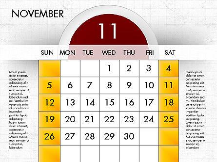 2017 Calendar for PowerPoint, Slide 12, 04000, Timelines & Calendars — PoweredTemplate.com