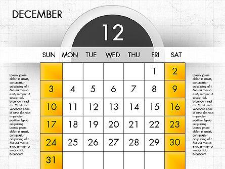 2017 Calendar for PowerPoint, Slide 13, 04000, Timelines & Calendars — PoweredTemplate.com