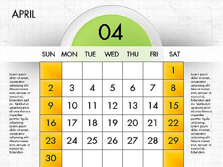 2017 Calendar for PowerPoint, Slide 5, 04000, Timelines & Calendars — PoweredTemplate.com