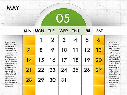 2017 Calendar for PowerPoint, Slide 6, 04000, Timelines & Calendars — PoweredTemplate.com