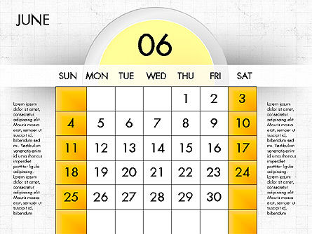 2017 Calendar for PowerPoint, Slide 7, 04000, Timelines & Calendars — PoweredTemplate.com