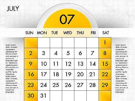 2017 Calendar for PowerPoint, Slide 8, 04000, Timelines & Calendars — PoweredTemplate.com