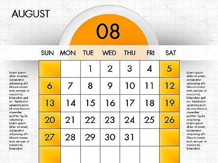 2017 Calendar for PowerPoint, Slide 9, 04000, Timelines & Calendars — PoweredTemplate.com