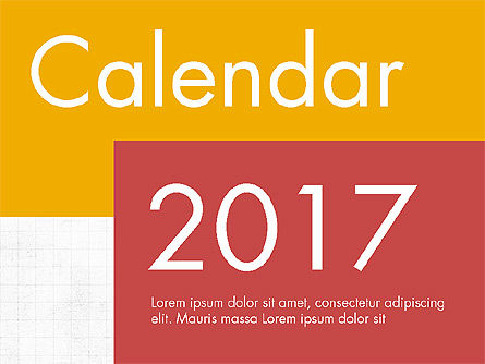 Calendar 2017 in Flat Design, 04001, Timelines & Calendars — PoweredTemplate.com
