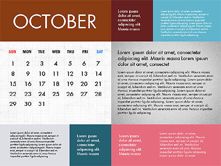 Calendar 2017 in Flat Design Slide 11
