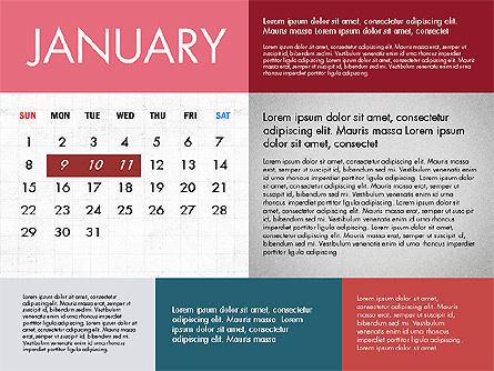 Calendar 2017 in Flat Design Slide 2