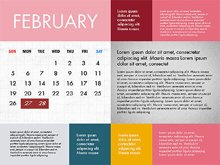 Calendar 2017 in Flat Design Slide 3