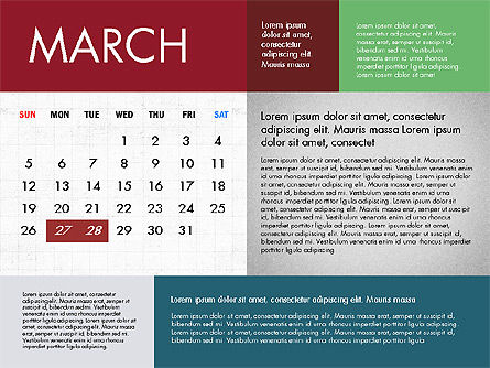 Calendar 2017 in Flat Design Slide 4