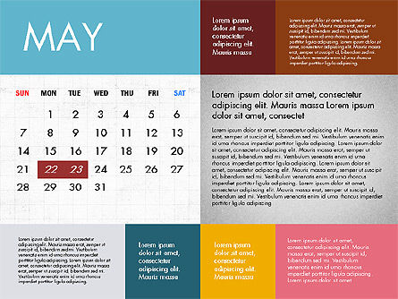 Calendar 2017 in Flat Design Slide 6