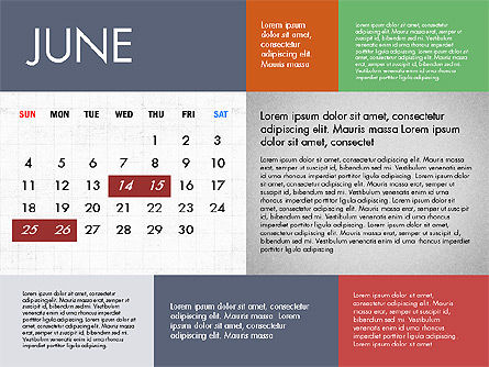 Calendar 2017 in Flat Design Slide 7