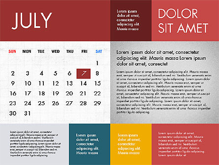 Calendar 2017 in Flat Design Slide 8