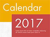 Timelines & Calendars: 평면 디자인의 캘린더 2017 #04001