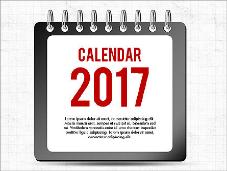 2017 Calendar, 04008, Timelines & Calendars — PoweredTemplate.com