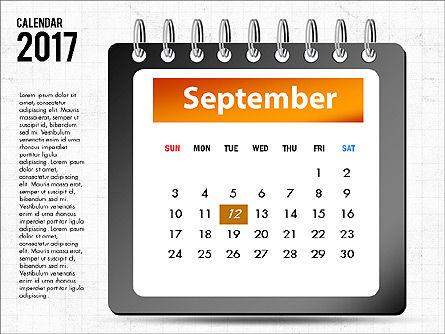 2017 Calendar, Slide 10, 04008, Timelines & Calendars — PoweredTemplate.com