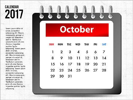 2017 Calendar, Slide 11, 04008, Timelines & Calendars — PoweredTemplate.com