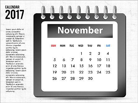 2017 Calendar, Slide 12, 04008, Timelines & Calendars — PoweredTemplate.com