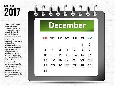 2017 Calendar, Slide 13, 04008, Timelines & Calendars — PoweredTemplate.com