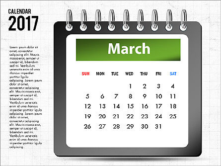 2017 Calendar, Slide 4, 04008, Timelines & Calendars — PoweredTemplate.com