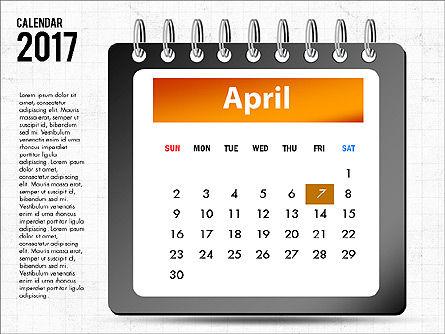 2017 Calendar, Slide 5, 04008, Timelines & Calendars — PoweredTemplate.com