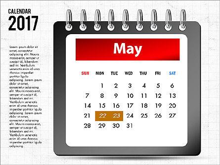 2017 Calendar, Slide 6, 04008, Timelines & Calendars — PoweredTemplate.com