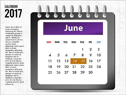 2017 Calendar, Slide 7, 04008, Timelines & Calendars — PoweredTemplate.com