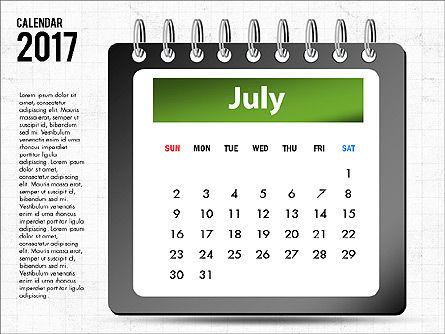 2017 Calendar, Slide 8, 04008, Timelines & Calendars — PoweredTemplate.com