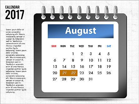 2017 Calendar, Slide 9, 04008, Timelines & Calendars — PoweredTemplate.com