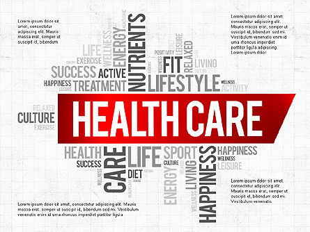 Health Care Presentation Template, 04011, Presentation Templates — PoweredTemplate.com