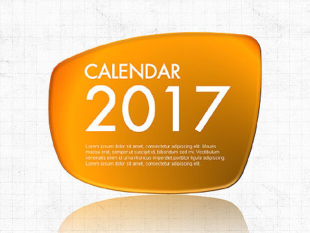 Timelines & Calendars: 2017 Calendário do PowerPoint #04014