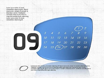 2017 PowerPoint Calendar, Slide 10, 04014, Timelines & Calendars — PoweredTemplate.com