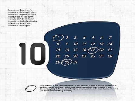 2017 PowerPoint Calendar, Slide 11, 04014, Timelines & Calendars — PoweredTemplate.com