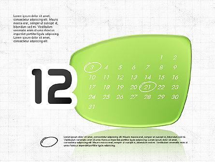 2017 PowerPoint Calendar, Slide 13, 04014, Timelines & Calendars — PoweredTemplate.com