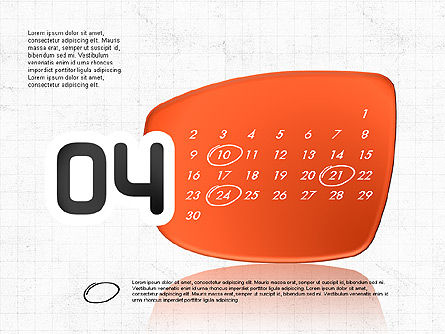2017 PowerPoint Calendar, Slide 5, 04014, Timelines & Calendars — PoweredTemplate.com