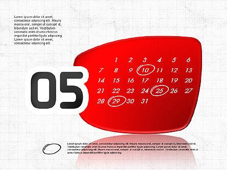 2017 PowerPoint Calendar, Slide 6, 04014, Timelines & Calendars — PoweredTemplate.com
