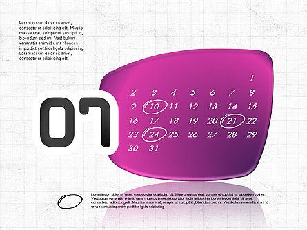 2017 PowerPoint Calendar, Slide 8, 04014, Timelines & Calendars — PoweredTemplate.com