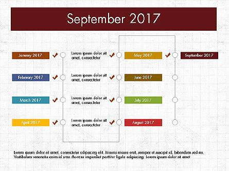 Timeline Concept, Slide 10, 04015, Timelines & Calendars — PoweredTemplate.com